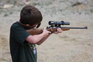 Bridger Lowery shooting .22 rifle