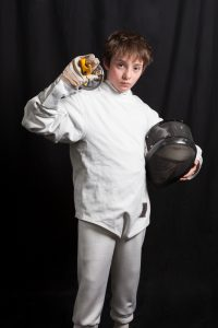 Bridger Lowery fencing portrait courtesy of Slikati Photography
